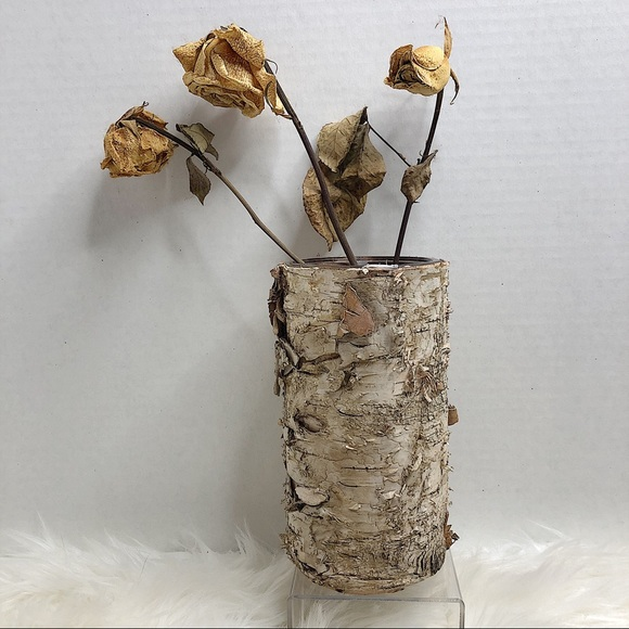 Rustic Natural Birch Tree Bark Vase